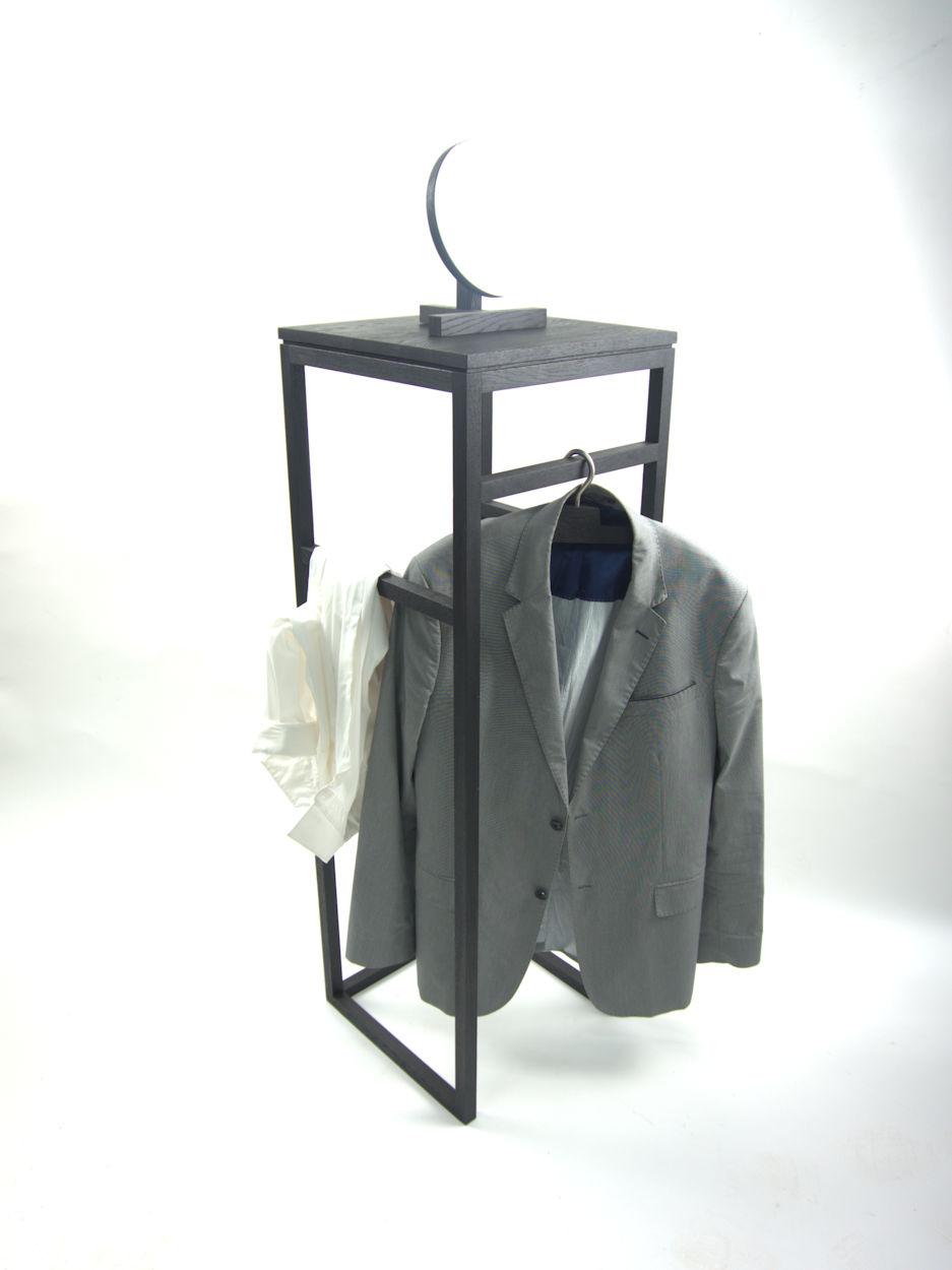 zwart eiken dressboy kledingrek